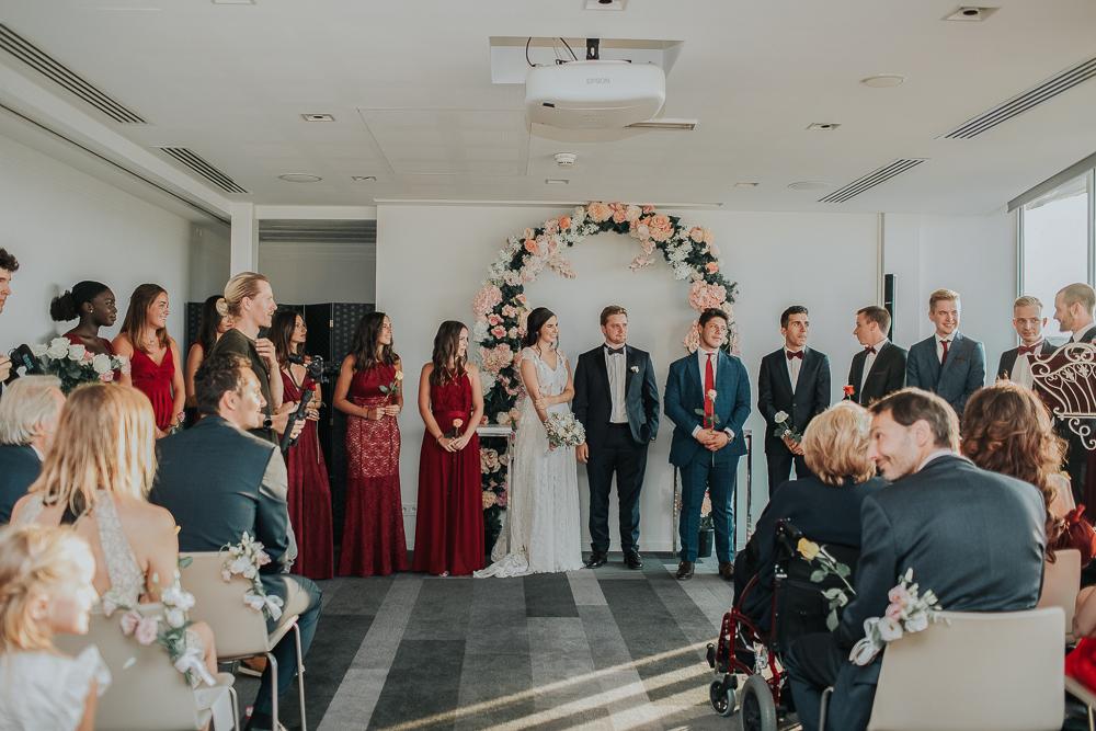 Photographie de mariage à la mairie de paris 16ème